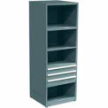 "SPS 3 Drawer, 4 Shelf Cabinet-29 1/4""W x 27 3/4""D x 75""H-Sebring Grey"