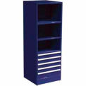 "SPS 5 Drawer, 3 Shelf Cabinet-29 1/4""W x 27 3/4""D x 75""H-St. Louis Blue"