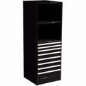 "SPS 8 Drawer, 2 Shelf Cabinet-29 1/4""W x 27 3/4""D x 75""H-Gloss Black"
