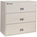 "3 Drawer Insulated Lateral File Cabinet - 43""W, Gray, Legal"