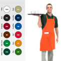 "Full Length Bib Apron, 30X34, 8"" X 8"" Side Pocket, Hunter Green"