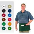 Front Of The House Waist Apron, 12X24, 3 Comp Pocket, Black