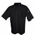 Cook Shirt, Large, Breast Pocket, Short Sleeve, Black