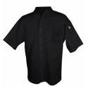 Cook Shirt, Large, Breast Pocket, Short Sleeve, Black