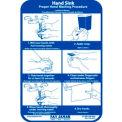San Jamar® Hand Washing Station Smart Chart - HWWLCT