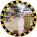 "Se-Kure™ Acrylic Indoor Convex Mirror with Safety Border & T Mounting Bracket, 30"" Diameter"