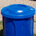 42 Gal. Round Receptacle, Bug Barrier Lid, Liner - Blue