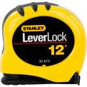 "Stanley 30-810 1/2"" x 12' LeverLock® High-Vis High Impact ABS Case Tape Rule"