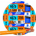 Southwire 63948455 Romex Cable with Ground, Orange, 10/3 Awg, 250 ft