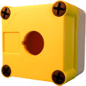 Springer Controls N5EPEG01, 1 x 22 mm Hole, Polycarbonate Enclosure Yellow Top (No Operators)