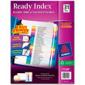 "Avery Ready Index T.O.C. Reference Divider, 1 to 31, 8.5""x11"", 31 Tabs, White/Multi"