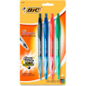 Bic® Ballpoint Pens, Assorted Ink, Clear Barrel, 4/Pack