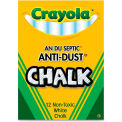 Crayola Anti-Dust Chalk - White, 12/Box