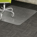 "Lorell® Low Pile Carpet Office Chair Mat, 60""L x 46""W, 0.38"" Thick, Clear, Beveled Edge"