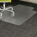 """Lorell Low Pile Office Chair Mat 48""""L x 36""""W with 10""""L x 19""""W Lip Clear"""
