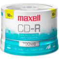 Maxell CD Recordable Media, MAX648250, CD-R Media, 48x Speed, 700 MB Capcity