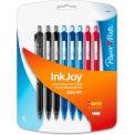 Paper Mate® Ballpoint Pens, Assorted Ink, Transparent Barrel, 8/Pack