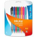 Paper Mate® Ballpoint Pen - InkJoy 100 RT, Assorted Ink, Assorted Barrel, Medium Tip, 8/Pack