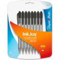 Paper Mate® Ballpoint Pen, Black Ink, Transparent/Tinted Barrel, 8/Pack