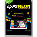Expo Dry Erase Board with Neon Marker - Black, 11