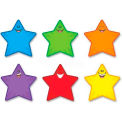 Trend Classic Accents Shapes, TEPT10907, Precut Smiley Stars, Assorted Colors, 36/Pk