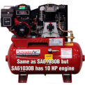 Schrader® Two-Stage Gas Powered Air Compressor SA61030B, Briggs & Stratton, 10HP, 30 Gal