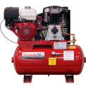 Schrader® Two-Stage Gas Powered Air Compressor SA61130H, Honda, 11HP, 30 Gal