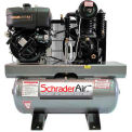 Schrader® Two-Stage Gas Powered Air Compressor SA81030K, Diesel, 10HP, 30 Gal