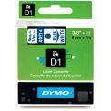 "DYMO® D1 Standard Labels 3/8"" Blue on White"