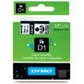 "DYMO® D1 Standard Labels 1/4"" Black on Clear"