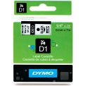 """DYMO® D1 Standard Labels 1/4"""" Black on White"""