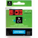 "DYMO® D1 Standard Labels 1/2"" Black on Red"