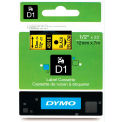 "DYMO® D1 Standard Labels 1/2"" Black on Yellow"