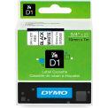 """DYMO® D1 Standard Labels 3/4"""" Black on White"""