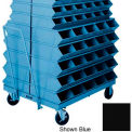 """Stackbin® 3-11STBK Double Sided Mobile Truck for 37 W"""" x 12""""D x 4-1/2""""H Sectional Bins, Black"""