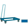 "Double Sided Mobile Truck for 37""W x 15-1/2""D x 6""H Sectional Bins- Blue"
