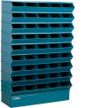 "45 Compartment Sectional Unit, 37""W x 13""D x 54""H - Blue"