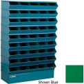 "45 Compartment Sectional Unit, 37""W x 13""D x 54""H - Green"