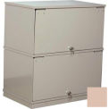 Stackbin® Two-Shelf Lockable X-Ray Storage Cabinet, Beige