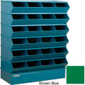 "24 Compartment Sectional Unit, 37""W x 15""D x 51""H - Green"
