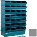 "28 Compartment Sectional Unit, 37""W x 15""D x 58-1/2""H - Gray"