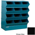 "12 Compartment Sectional Unit, 37""W x 20""D x 44""H - Black"