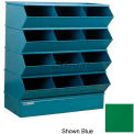 "12 Compartment Sectional Unit, 37""W x 20""D x 44""H - Green"