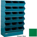 "18 Compartment Sectional Unit, 37""W x 20""D x 63""H - Green"