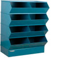 "8 Compartment Steel Sectional Unit, 37""W x 24""D x 44""H - Blue"