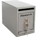 "Under Counter Drop Slot Safe 6""W x 12-5/16""D x 8-1/2""H, Gray"