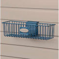 "Suncast® Trends® Garage Storage Wire Basket, 12"" W x 3"" D x 3-3/4"" H, Blue"