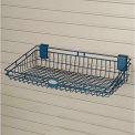 "Suncast® Trends® Garage Storage Wire Basket, 24"" W x 12"" D x 5-3/8"" H"", Blue"