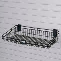 "Suncast® Trends® Garage Storage Wire Basket, 24"" W x 12"" D x 5-3/8"" H, Black"
