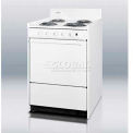 "Summit Electric Range, Slim 24""W W/Storage Compartment, White, 220V"